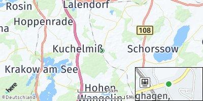 Google Map of Langhagen bei Güstrow