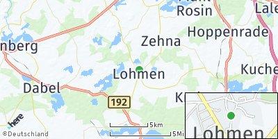 Google Map of Lohmen bei Güstrow