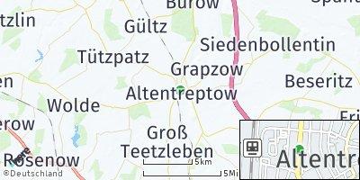 Google Map of Altentreptow