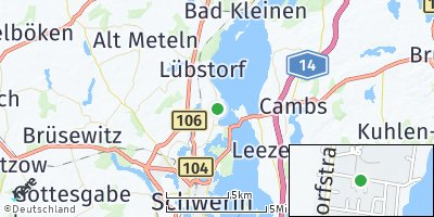 Google Map of Seehof bei Schwerin