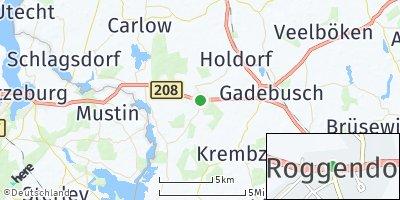 Google Map of Roggendorf bei Gadebusch