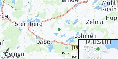 Google Map of Mustin bei Sternberg