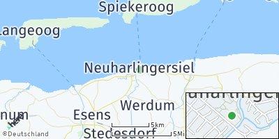 Google Map of Neuharlingersiel