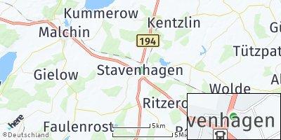 Google Map of Stavenhagen