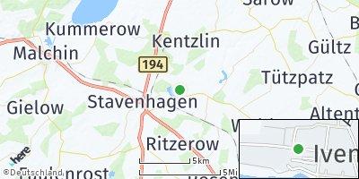 Google Map of Ivenack