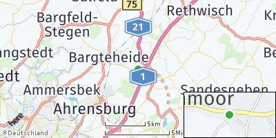 Google Map of Hammoor bei Ahrensburg
