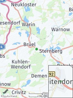 Here Map of Weitendorf bei Sternberg