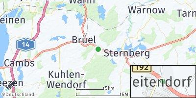 Google Map of Weitendorf bei Sternberg