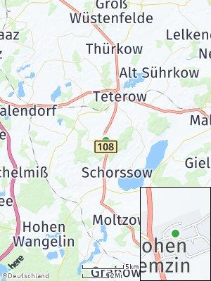 Here Map of Hohen Demzin