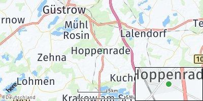 Google Map of Hoppenrade bei Güstrow