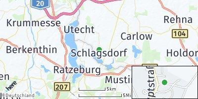 Google Map of Schlagsdorf bei Gadebusch
