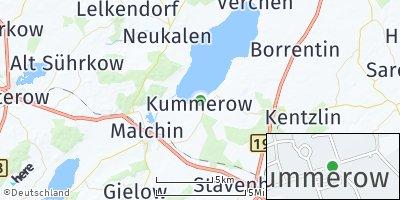 Google Map of Kummerow bei Malchin