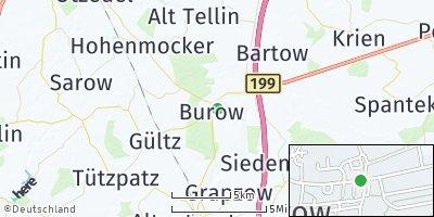 Google Map of Burow bei Altentreptow