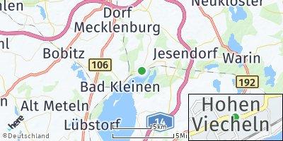 Google Map of Hohen Viecheln