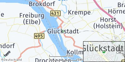 Google Map of Glückstadt