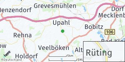 Google Map of Rüting bei Grevesmühlen