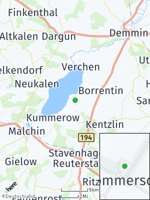 Here Map of Sommersdorf bei Demmin