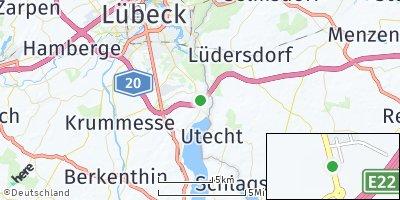 Google Map of Groß Grönau