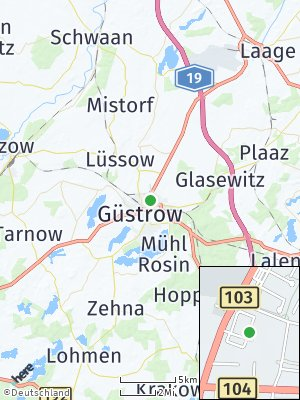 Here Map of Güstrow