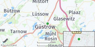 Google Map of Güstrow