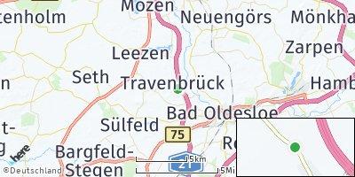 Google Map of Travenbrück