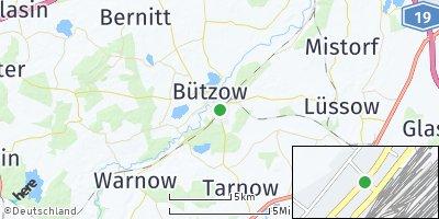 Google Map of Bützow