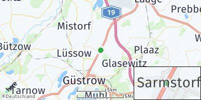 Google Map of Sarmstorf bei Güstrow