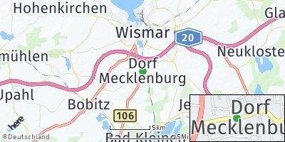 Google Map of Dorf Mecklenburg