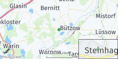 Google Map of Steinhagen bei Bützow