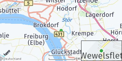 Google Map of Wewelsfleth