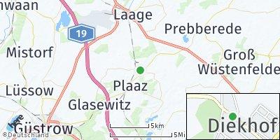 Google Map of Diekhof bei Laage