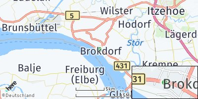 Google Map of Brokdorf