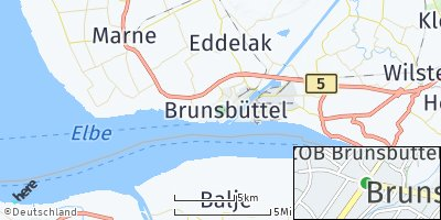 Google Map of Brunsbüttel
