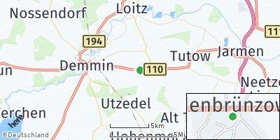 Google Map of Siedenbrünzow
