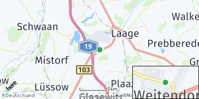 Google Map of Weitendorf bei Güstrow