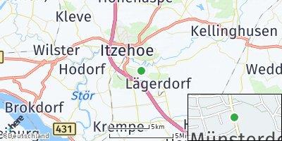 Google Map of Münsterdorf