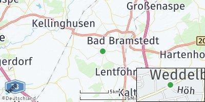 Google Map of Weddelbrook