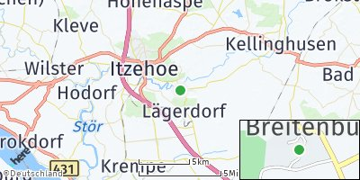 Google Map of Breitenburg