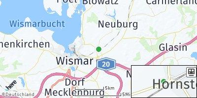 Google Map of Hornstorf bei Wismar