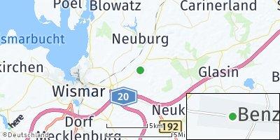 Google Map of Benz bei Wismar