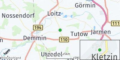 Google Map of Kletzin