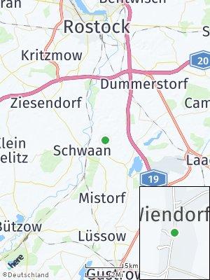 Here Map of Wiendorf bei Bützow