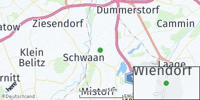 Google Map of Wiendorf bei Bützow