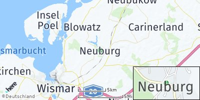 Google Map of Neuburg bei Wismar