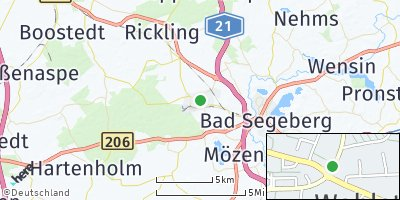 Google Map of Wahlstedt