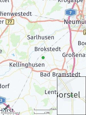 Here Map of Borstel bei Neumünster