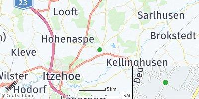 Google Map of Hohenlockstedt