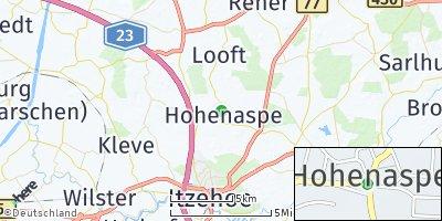 Google Map of Hohenaspe