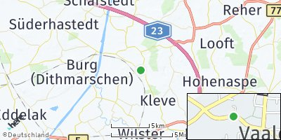 Google Map of Vaale