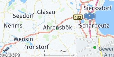 Google Map of Ahrensbök